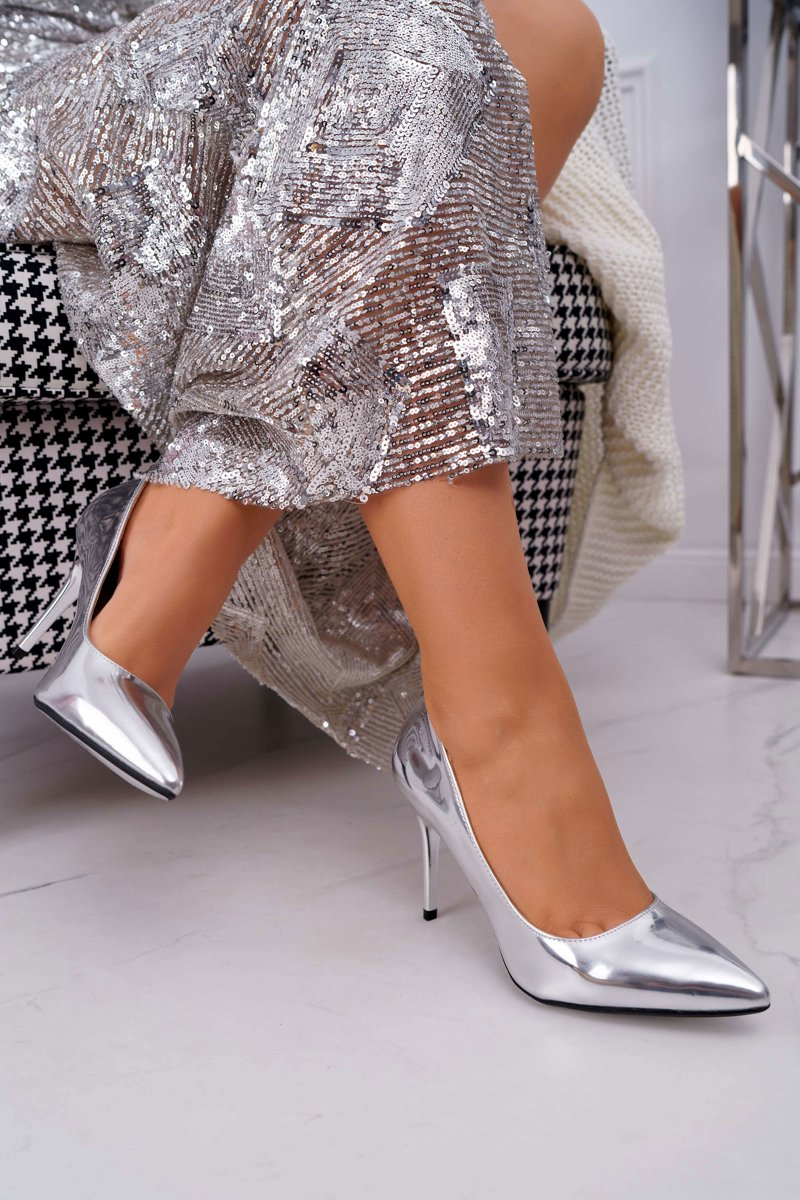 Women's Stilettos Lu Boo Mirrored Silver Lanthe