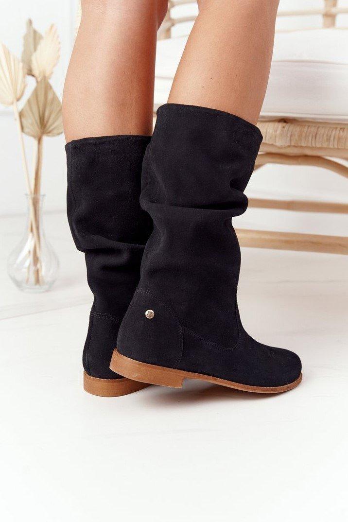 Women's Suede Boots Maciejka 05057-01 Black
