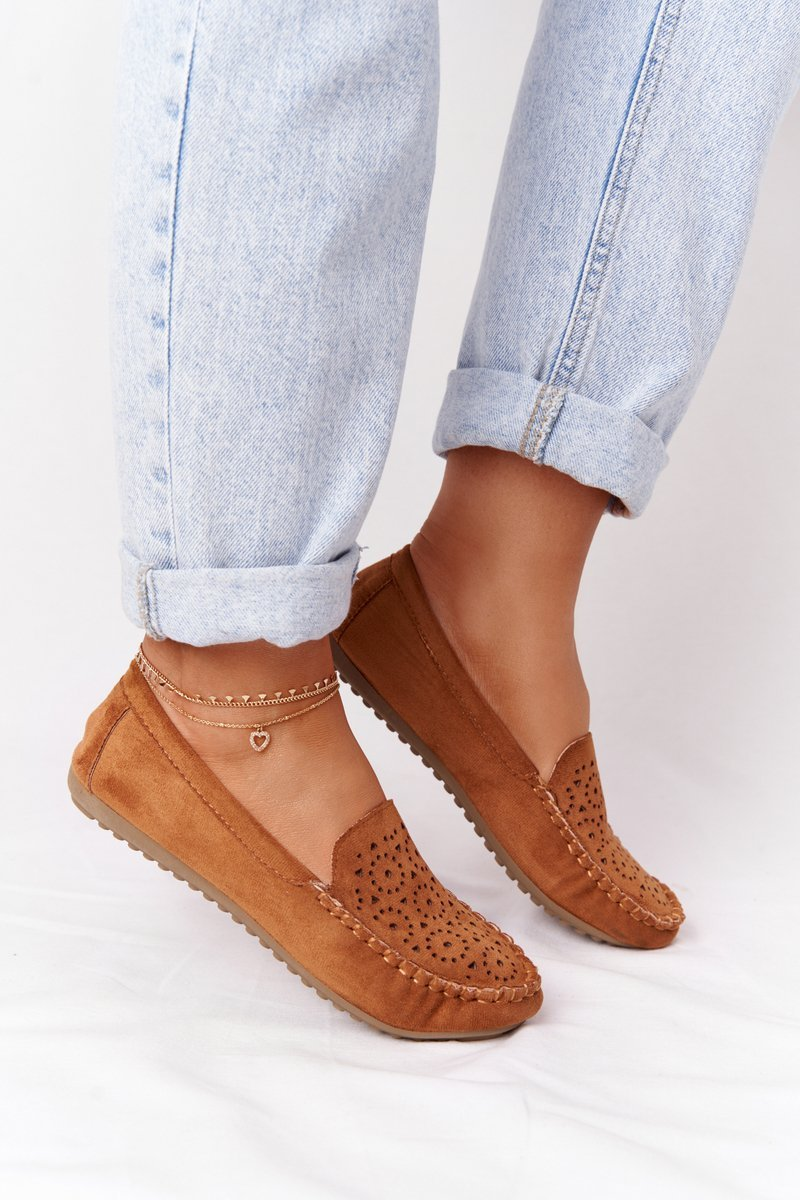 Women's Suede Loafers Camel Molly