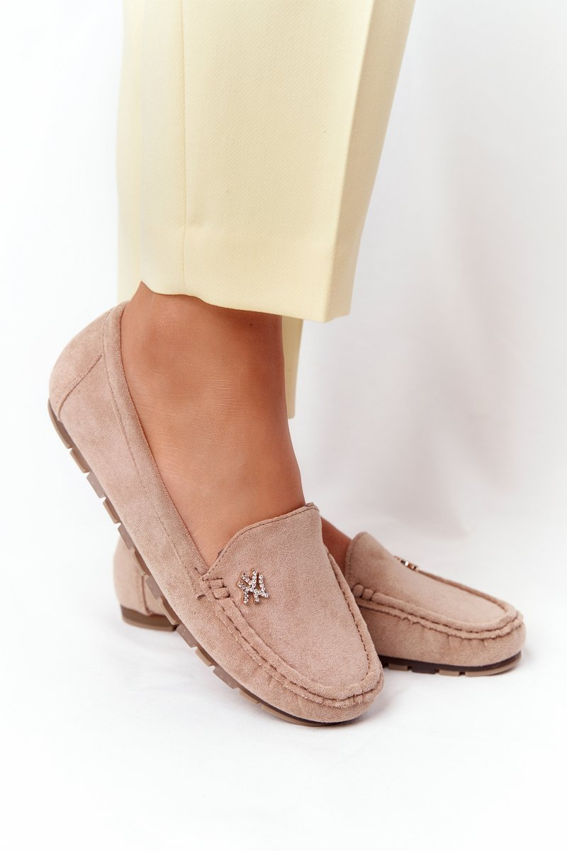 Women's Suede Loafers Light Brown Madelyn