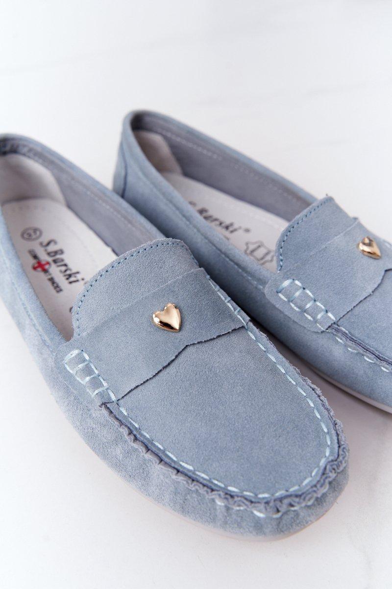 Women's Suede Loafers S.Barski Blue