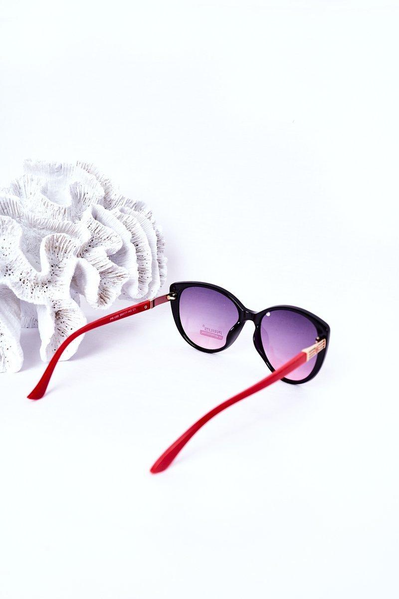 Women's Sunglasses Black-Red Ombre