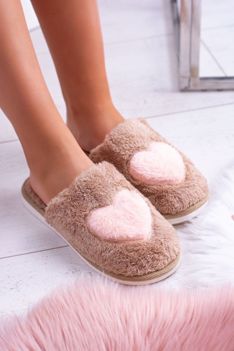 Women's Warm Belts Beige Slippers