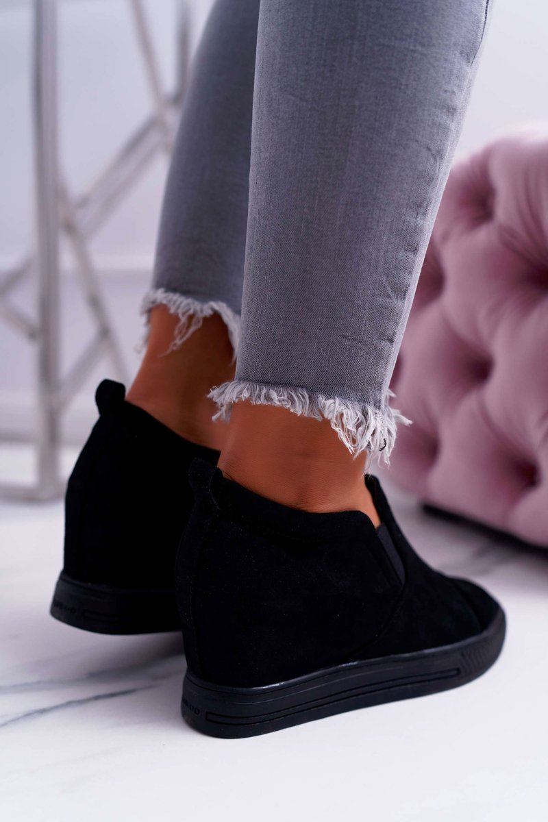 Women's Wedge Sneakers Lu Boo Black Kaori
