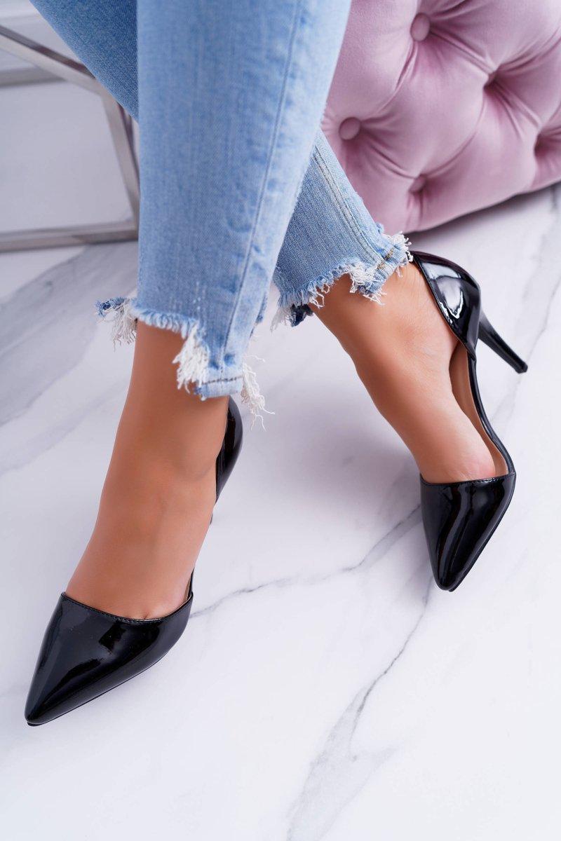 Women's stilettos Black Lacquered Miss Eli