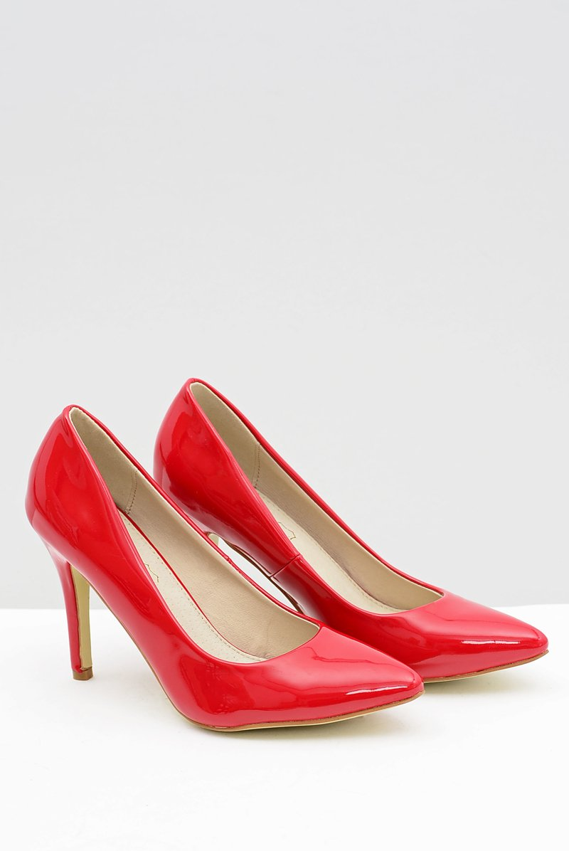 Women's stilettos Lacquered Red Esmeral