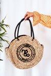 Braided Round Bag NOBO XK0280 Beige