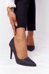 Elegant Glitter High Heels Lu Boo Black