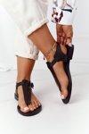 Leather Sandals Flip-flops Big Star HH274700 Black