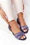 Leather Sandals Maciejka 04614-43 Navy Blue