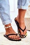 Lu Boo Black Aztec Flip Flops Havanna