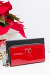 Nobo Large Red Lacquered Wallet