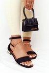 Sandals On Golden Heel Vinceza 21-17119 Black