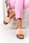 Slippers On The Cork Sole Beige Flowerbomb