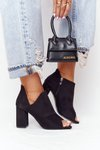 Spring Suede Boots On A Block Heel Vinceza 21-17095 Black