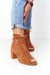 Suede Openwork Boots Maciejka Camel 04040-29