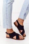 Suede Sandals Sergio Leone SK060 Black