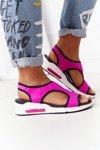 Wedge Slip-On Sandals Fuchsia Zoey