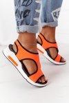 Wedge Slip-On Sandals Orange Zoey