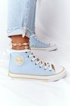 Women's High Sneakers Big Star HH274449 Blue