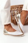 Women's Leather Ballerinas Maciejka 05056-11 White-Gold