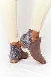 Women's Leather Boots Maciejka Dark Beige 04091-65