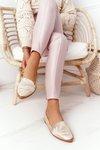 Women's Loafers Sergio Leone MK700 Gold