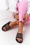 Women's Rubber Slippers With Sequins Black Tonya
