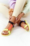 Women's Sandals On A Rubber Sole Multicolored Stranger