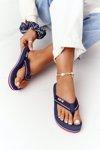 Women's Sliders Flip-Flops Big Star HH274A059 Navy