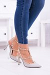 Women's stilettos Vices Lacquered On Studs Valenti Jets Grey